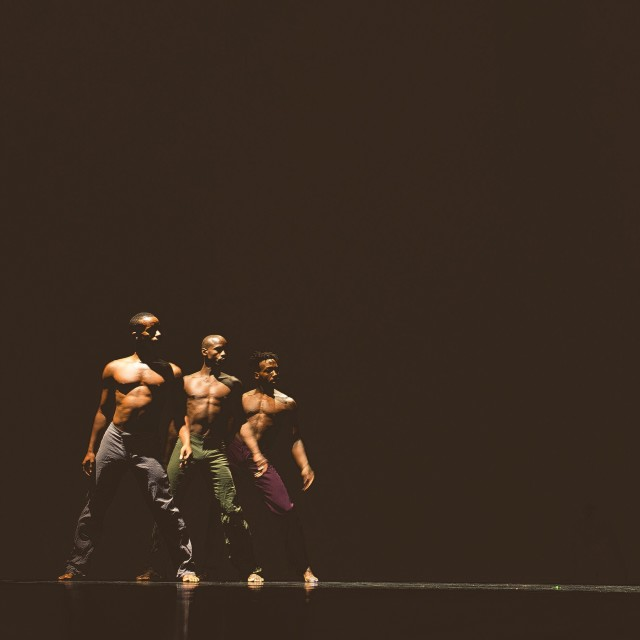 Aszure Barton's Awáa danced by Jonathan Alsberry, William Briscoe, and Jeremy Jae Neal at the Evolution Tour in Balzano, Italy.