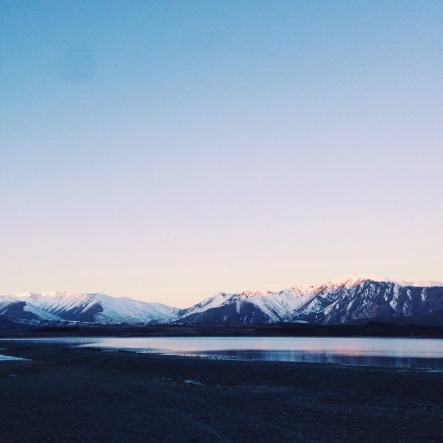 Golden hour on lake tekapo