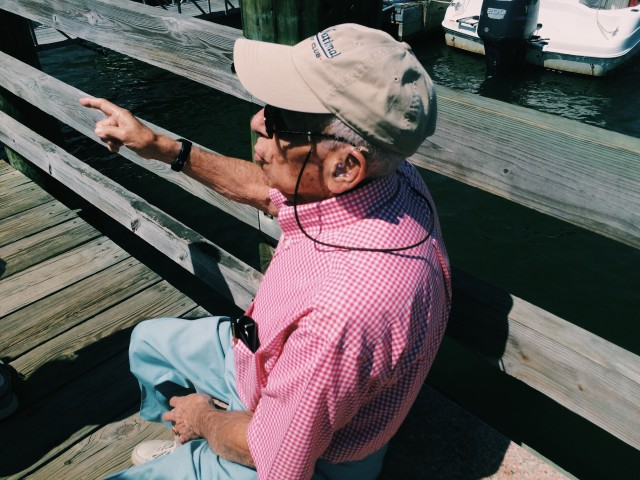 Grandfather by the water
