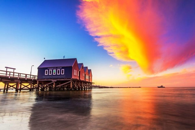 Busselton Jetty. The longest jetty in Western Australia