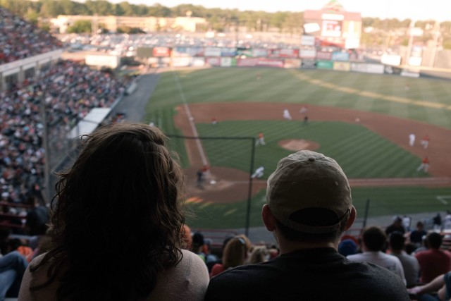 Baseball time. Watching the Bowie Baysox vs. Flying Squirrels.