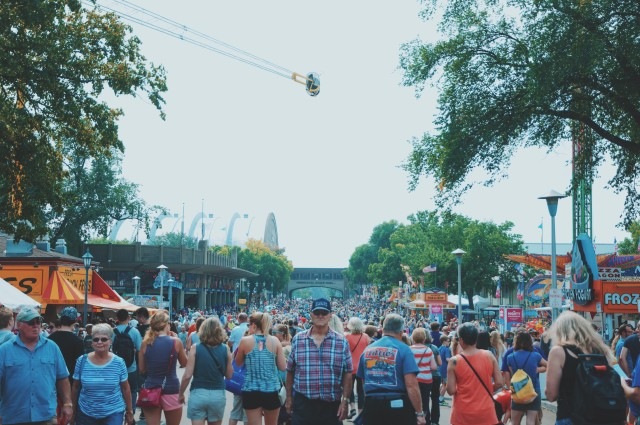 State fair crowd.