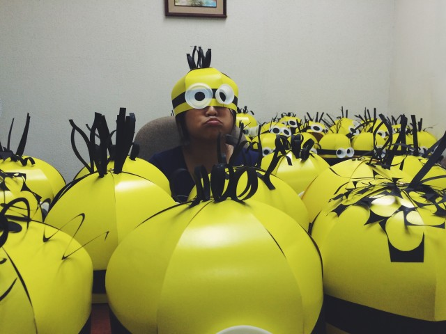 DIY Minion heads.