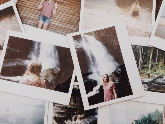 Polaroids from Pictured Rocks in Michigan