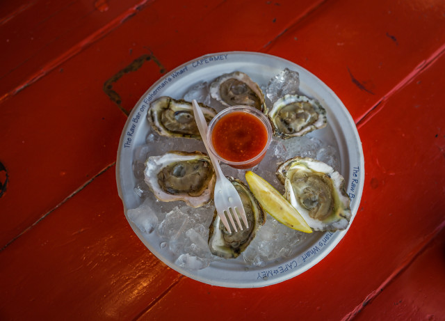 Jersey Shore; oysters on the half shell!