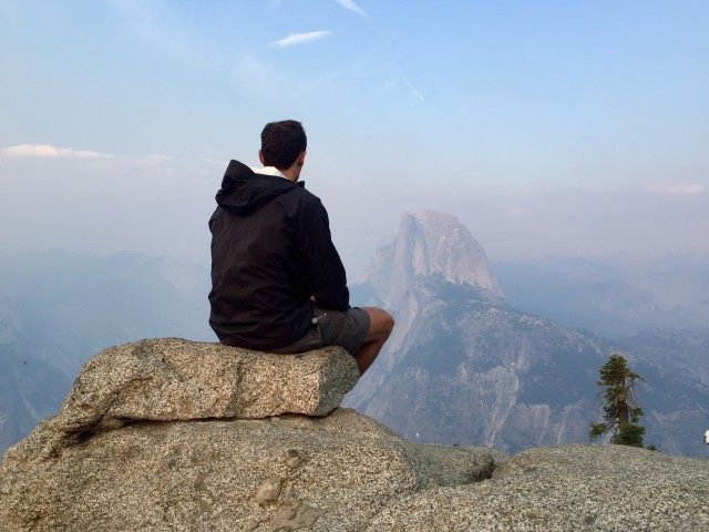 Contemplation over half dome