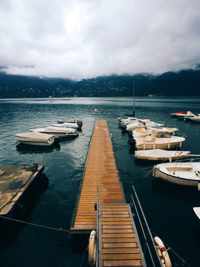 The boats of lake Como