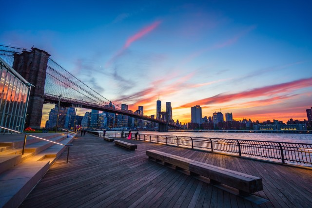 Brooklyn Bridge Park at Sunset