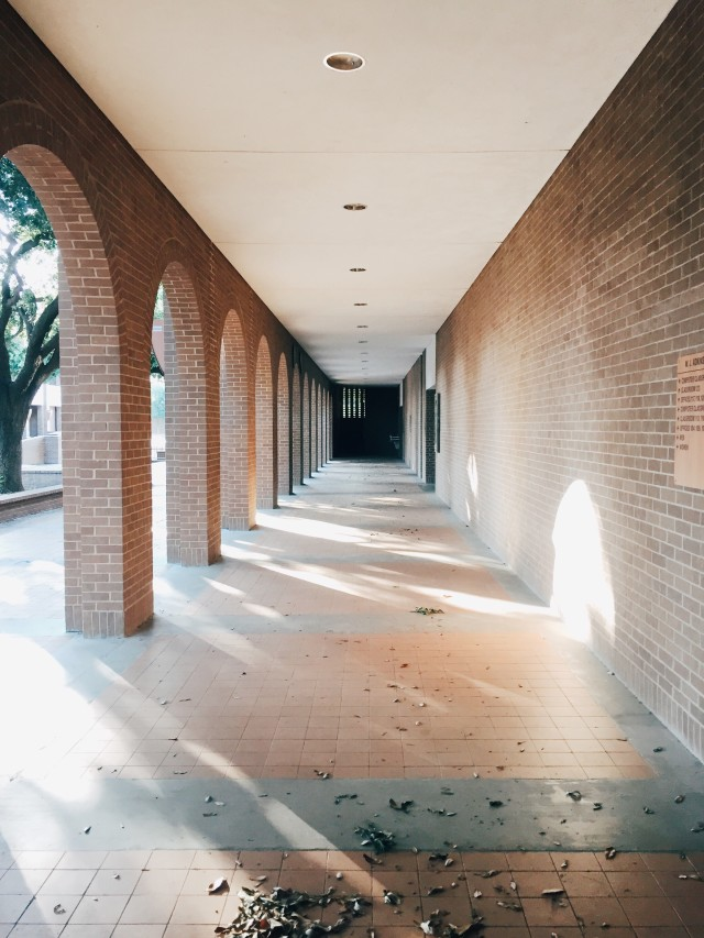 An outdoor corridor