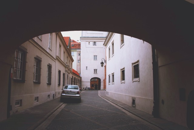 Empty streets in Warsaw