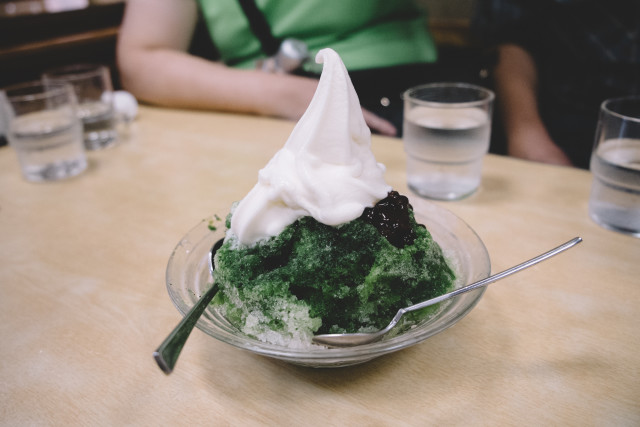 Kakigori, Japanese shaved ice desert