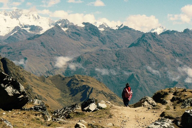 Descent from Salkantay mountain
