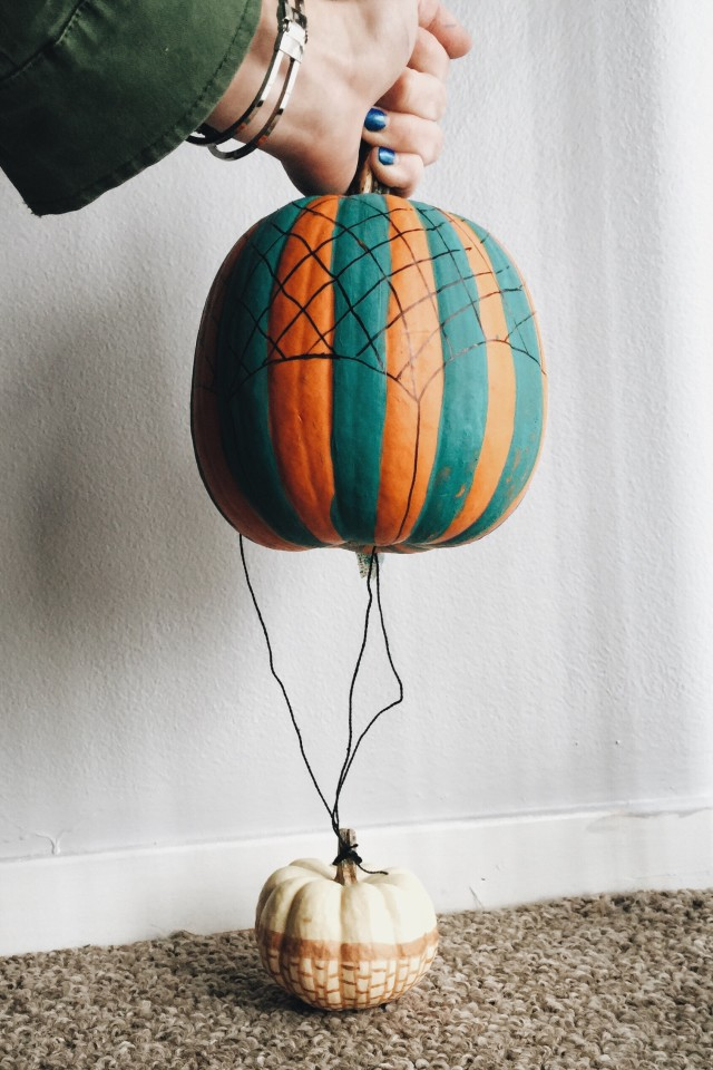 Hot air balloon pumpkins