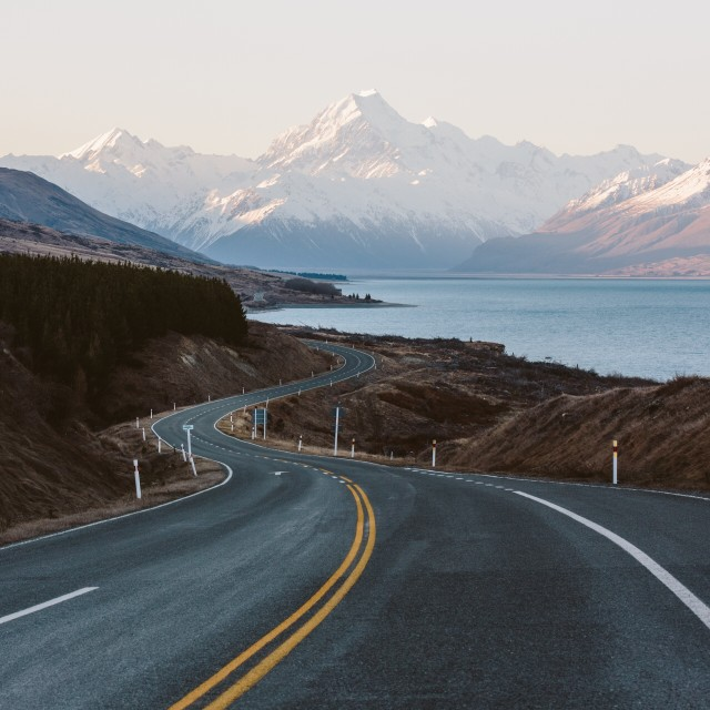 The drive to Mt Cook
