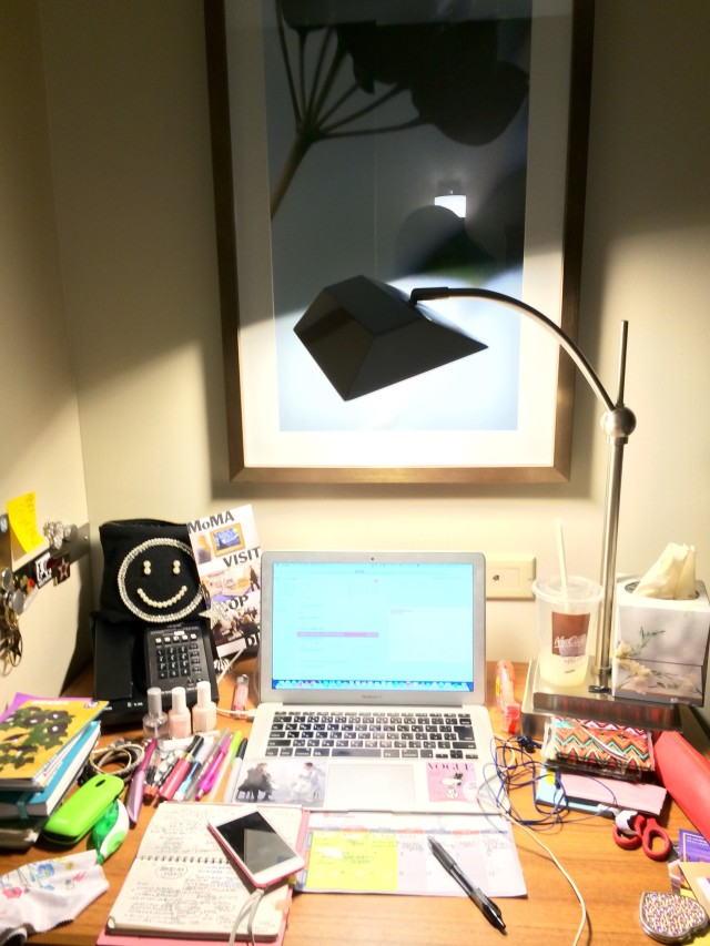 "My messy desk for the ""COOL DESKS""  Challenge"