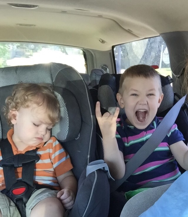Running errand with toddlers