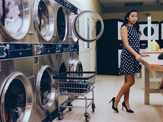 Free authentic laundromat photo on Reshot