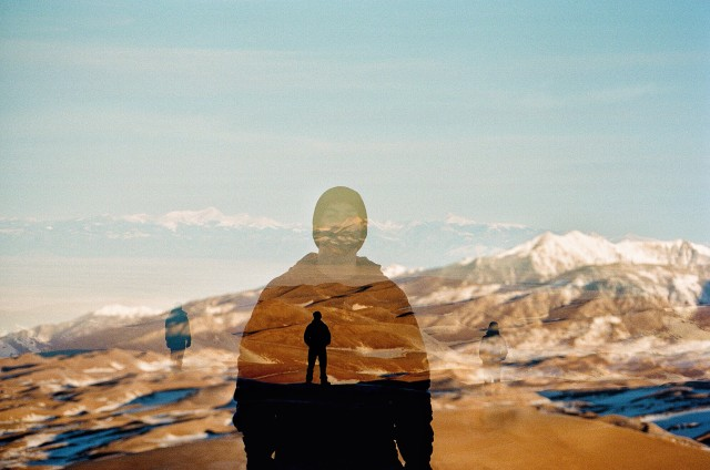 Accidental multiple exposure at The Great Sand Dunes