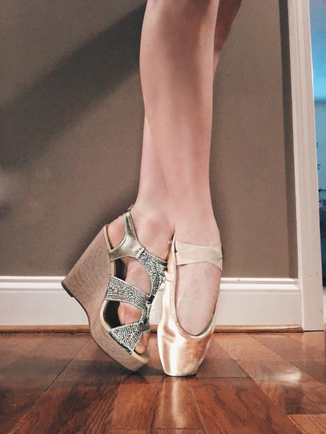 Who said a girl can't love her pointe shoes and her heels at the same time?