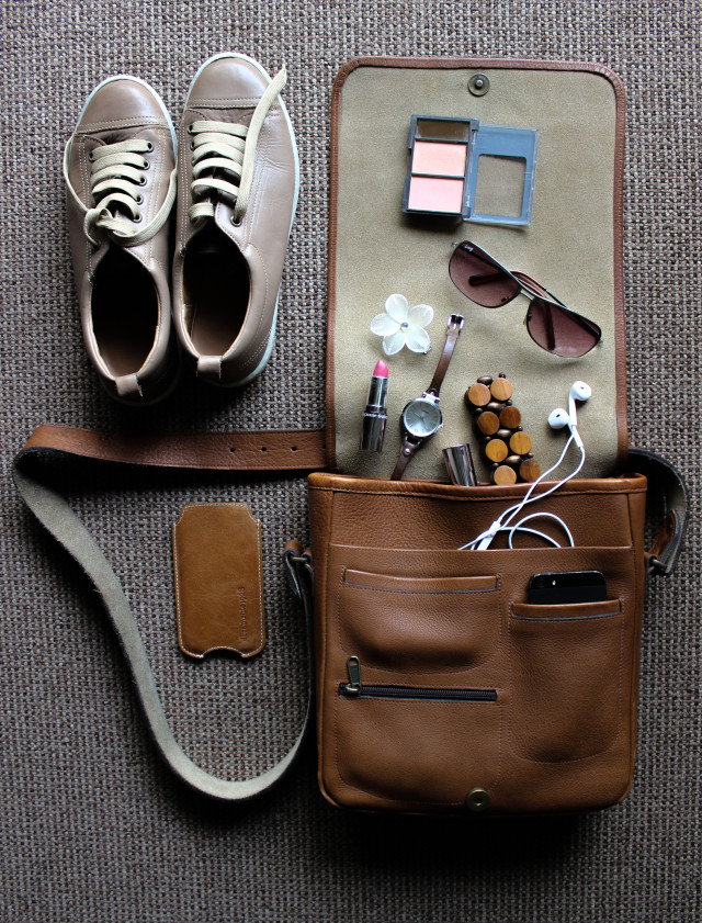 Fashion accessories flat lay