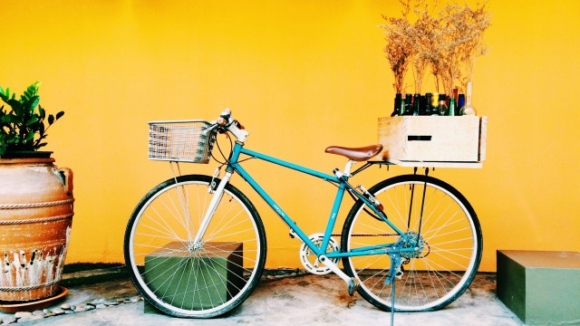 Old bicycle + Creative Thinking = Awesome Design