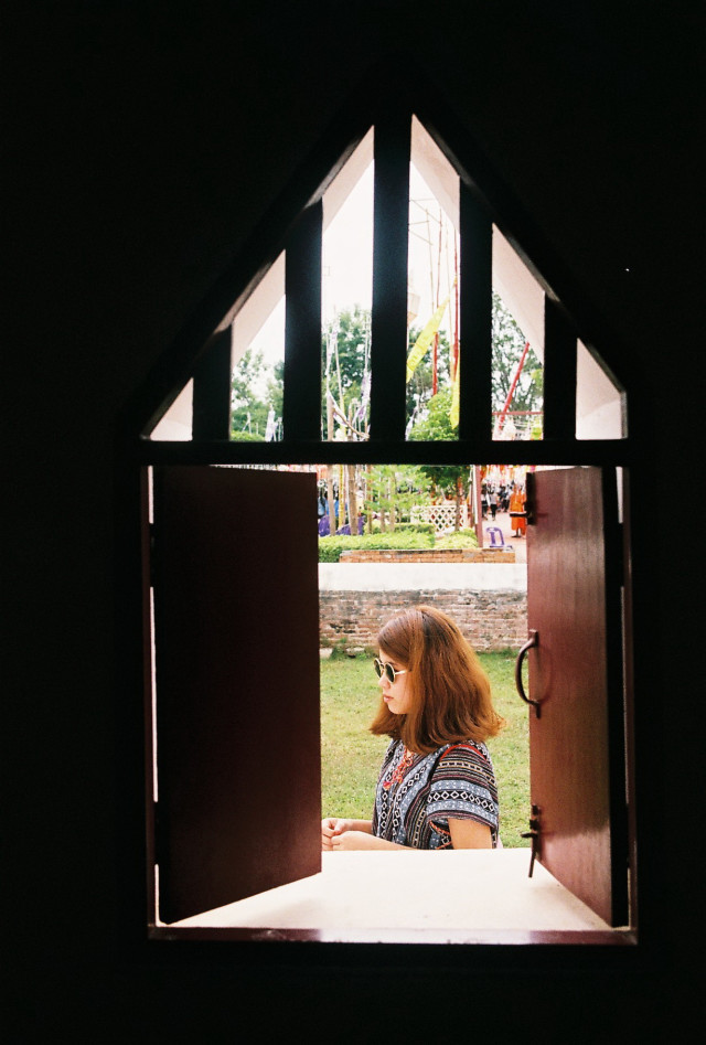 A women in the window