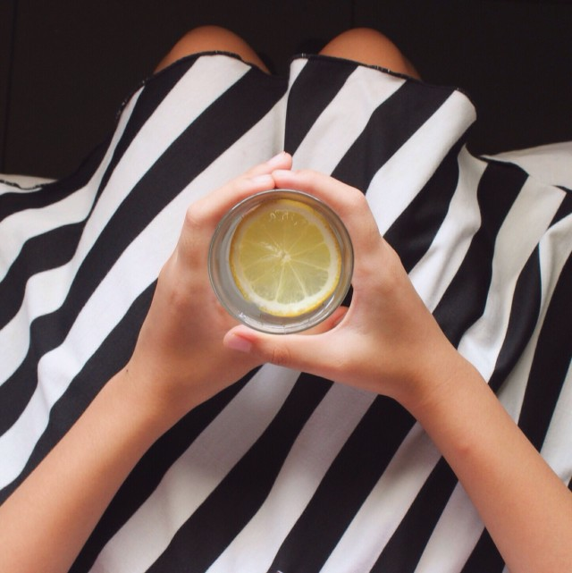 stripes and lemon