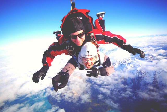Crazy day of my life! NZone skydiving over Lake Wakatipu, Queenstown NZ