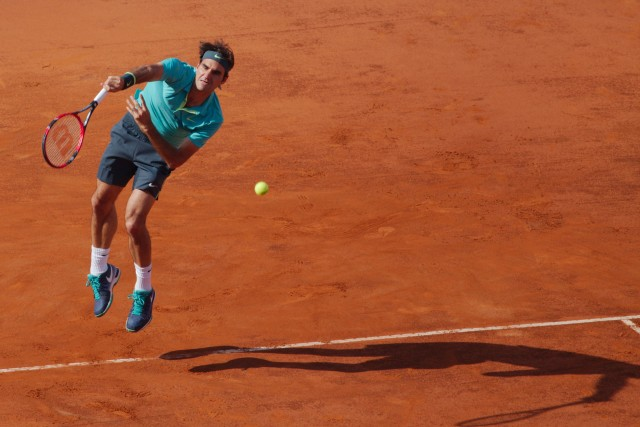 Roger Federer in action - Foro Italico in Rome - May 2015