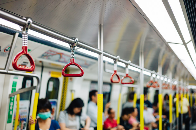Hanger in subway train