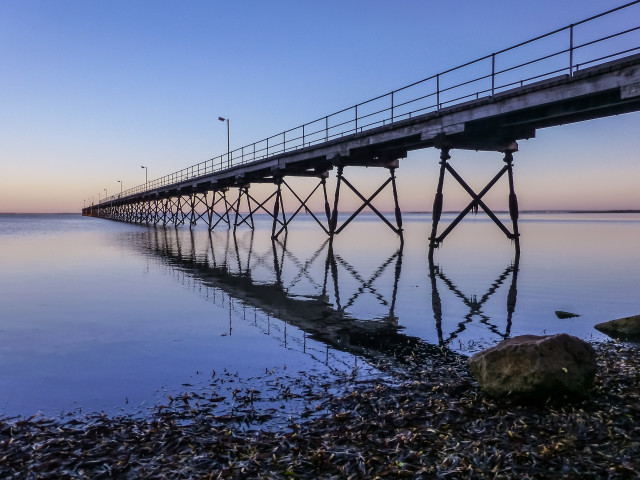 The jetty at Ceduna, South Australia, in the beautiful pre-dawn light