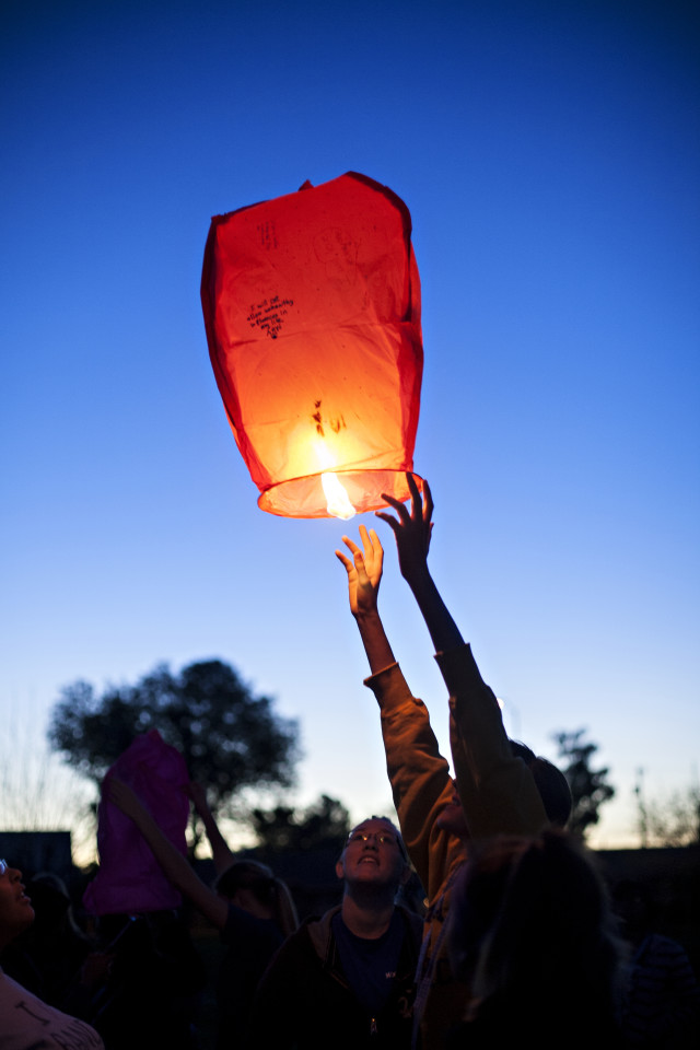 Chinese lantern launch