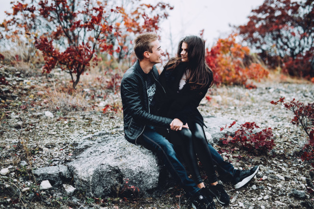 Free authentic young couple photo on Reshot