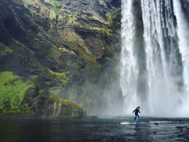 Running on water - Skogafoss, Iceland