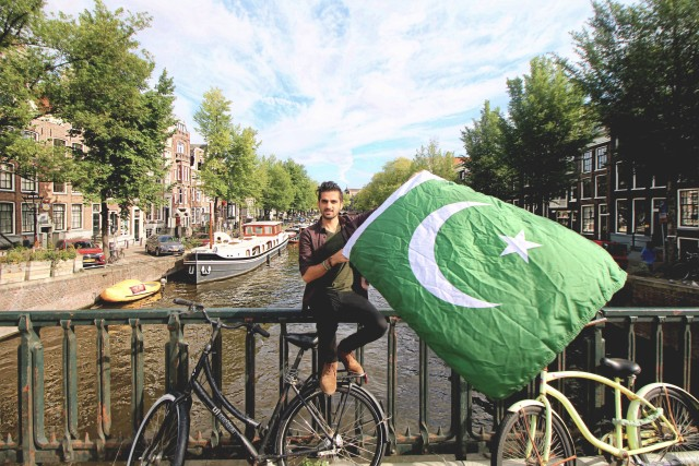 Pakistani flag in Amsterdam
