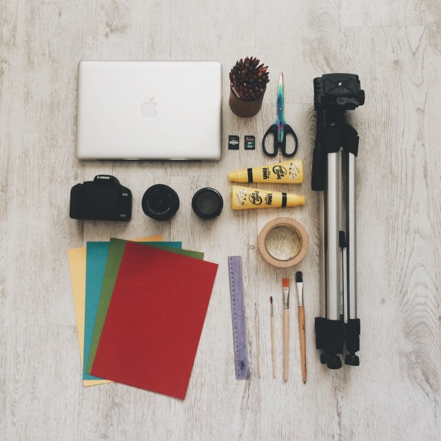 photo equipment for creative work
