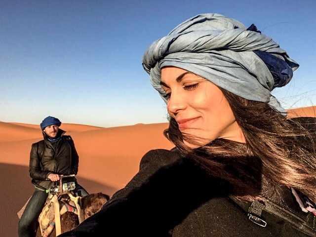 Trekking in the desert requires a selfie or two