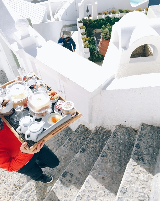 Breakfast from Santorini