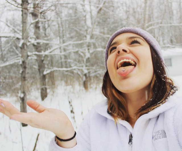 When you can't dance in the rain, frolic in the snow.