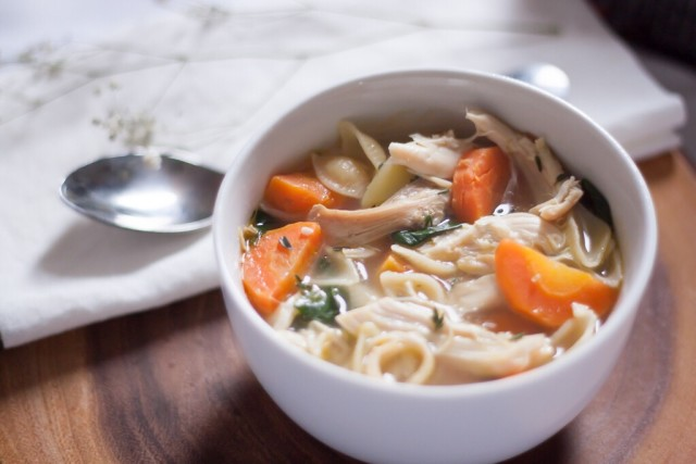 Homemade Chicken Noodle Soup Bowl
