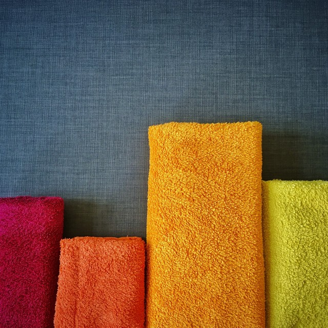 fresh summer colored towels