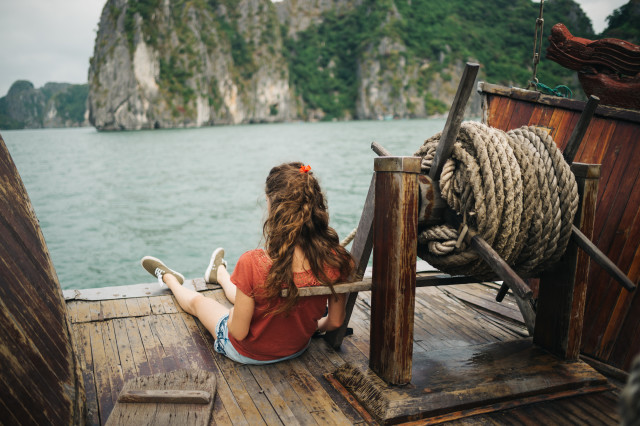Chillin' at Halong Bay.