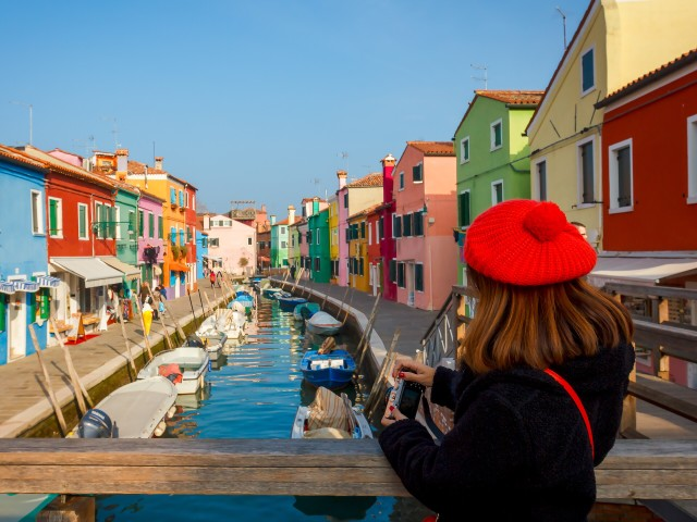 Colorful Burano island