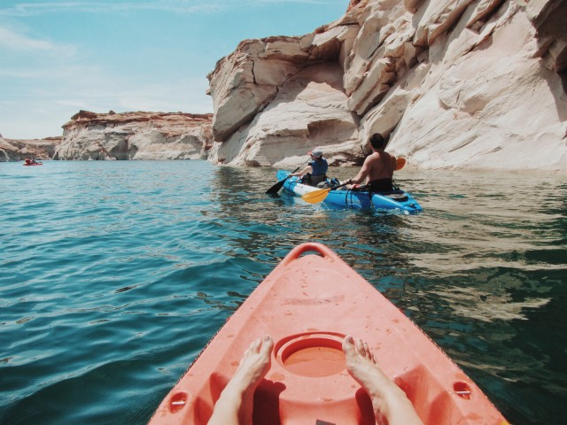 Kayaking at Lake Powell