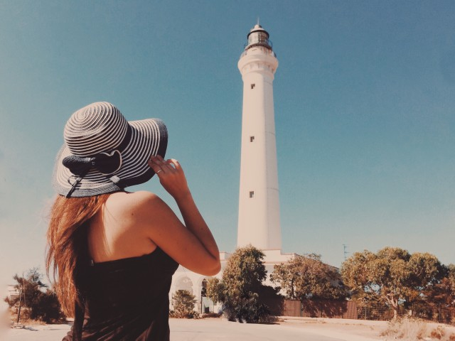 Girl with lighthouse