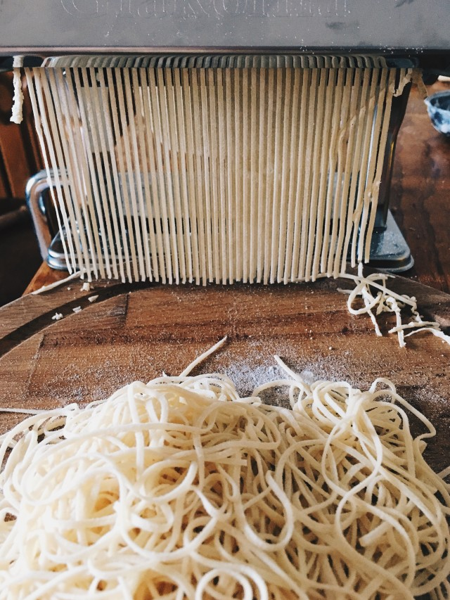 Homemade pasta