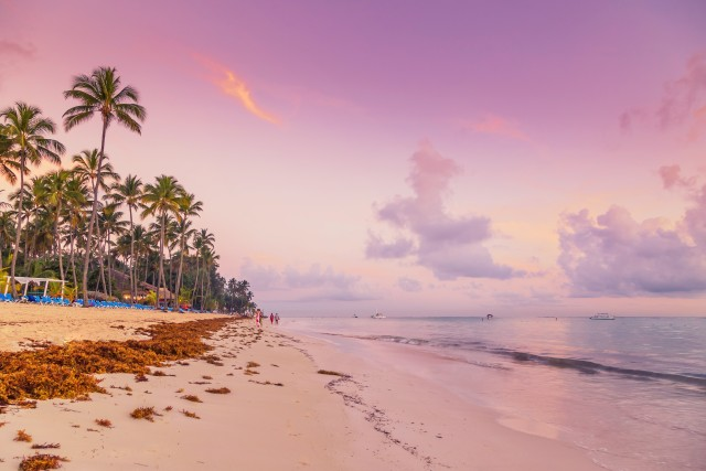 Beautiful sunrise at the tropical beach