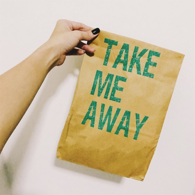 Take me away paper bag!