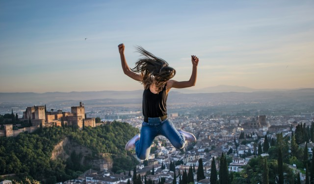 Free authentic jumping photo on Reshot