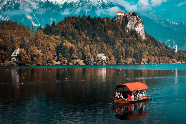 Boat on lake Bled